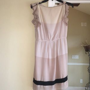 ann taylor loft cream dress